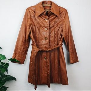 Vintage • Leather Trench Coat
